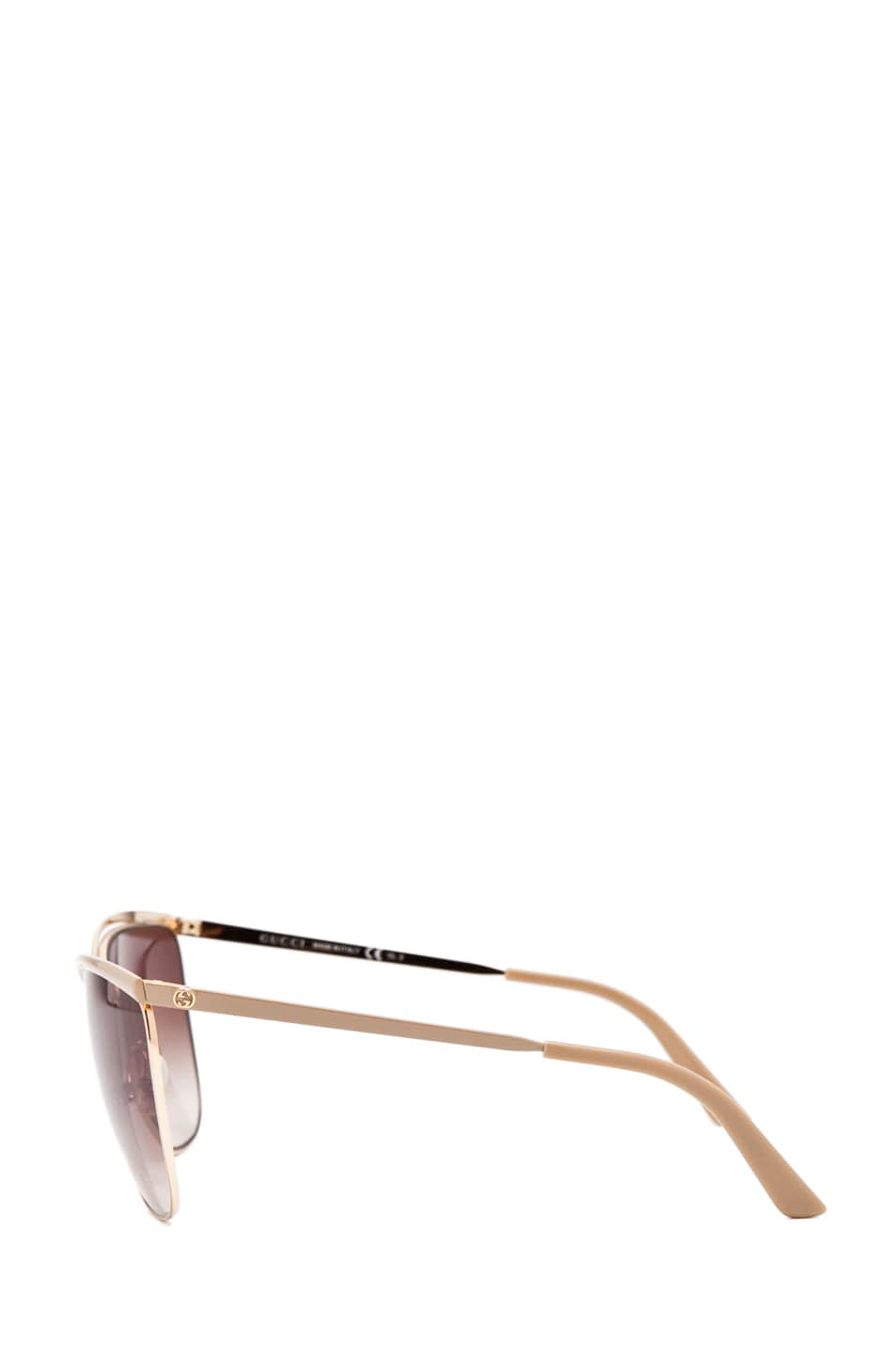 Image 3 of Gucci 2891/S in Caramel Rose Gold with Gray Gradient Lens