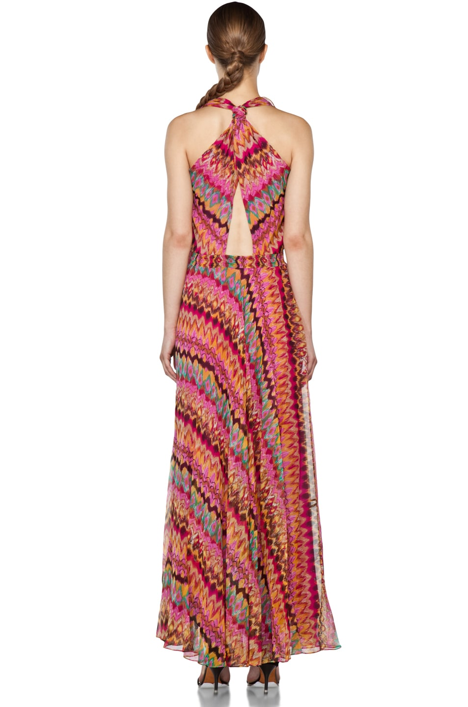 Image 4 of Haute Hippie Printed Ruffle Maxi Dress in Lilac Multi