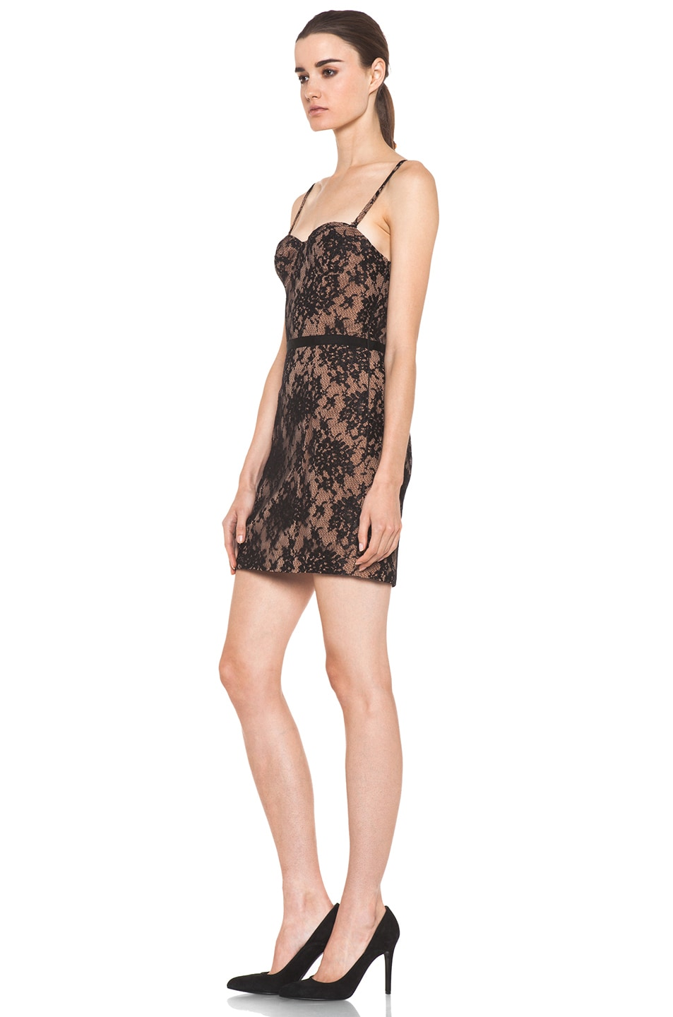 Image 2 of Haute Hippie Lace Corset Dress in Black