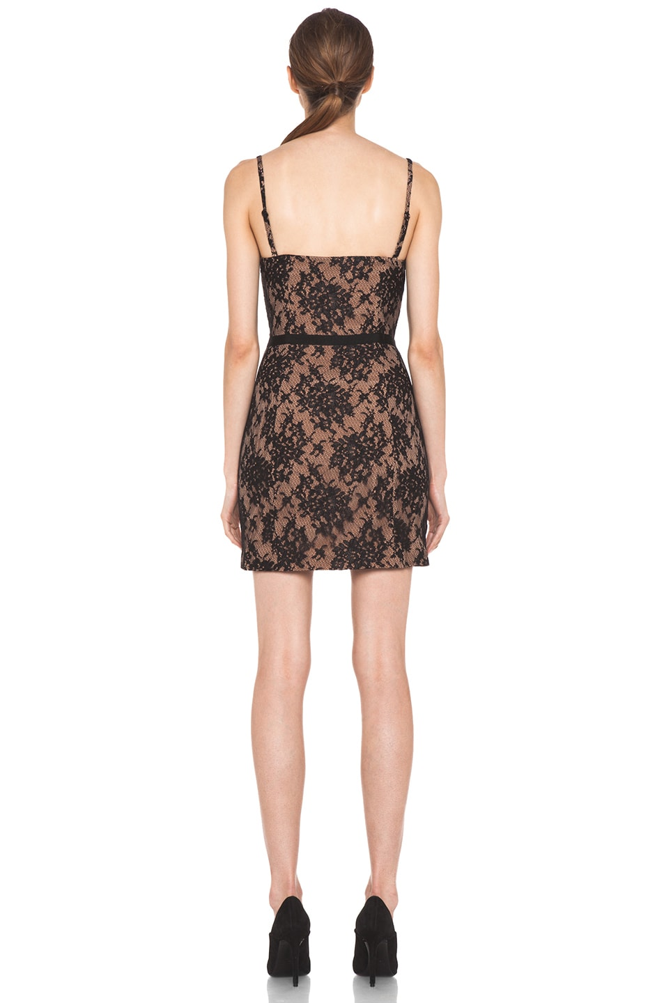 Image 4 of Haute Hippie Lace Corset Dress in Black