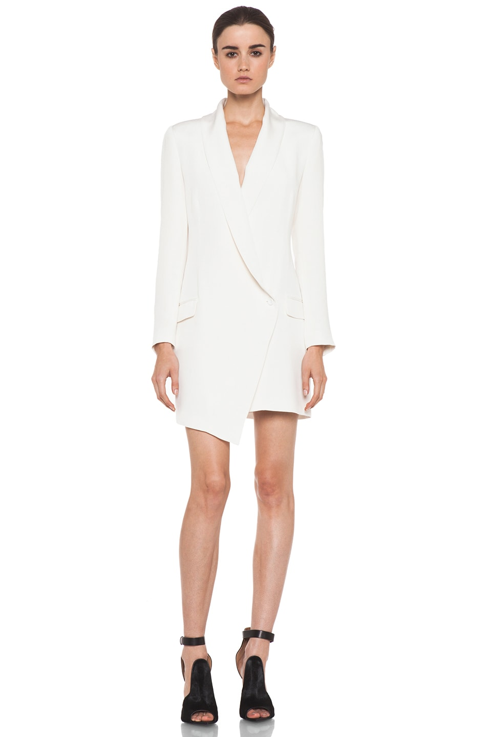 Image 1 of Haute Hippie Extra Long Blazer Dress in Ivory