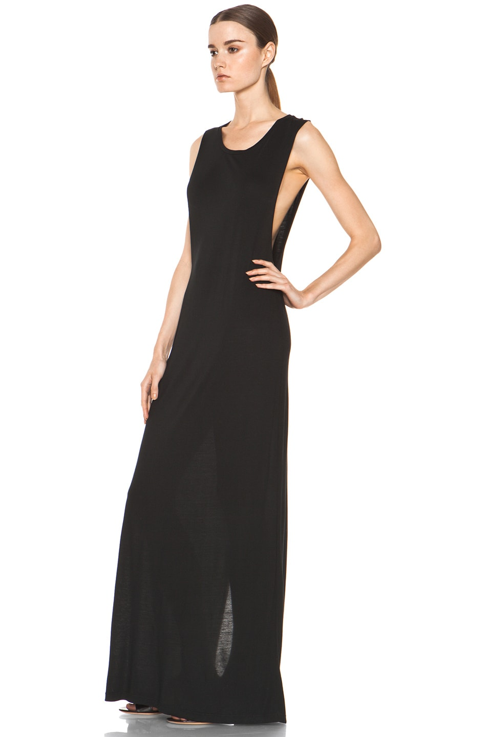 Image 3 of Haute Hippie Muscle Gown in Black