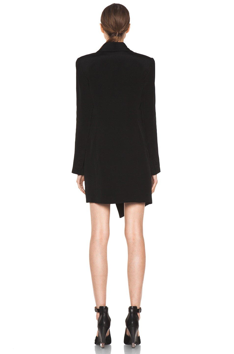 Image 4 of Haute Hippie Extra Long Blazer Dress in Black