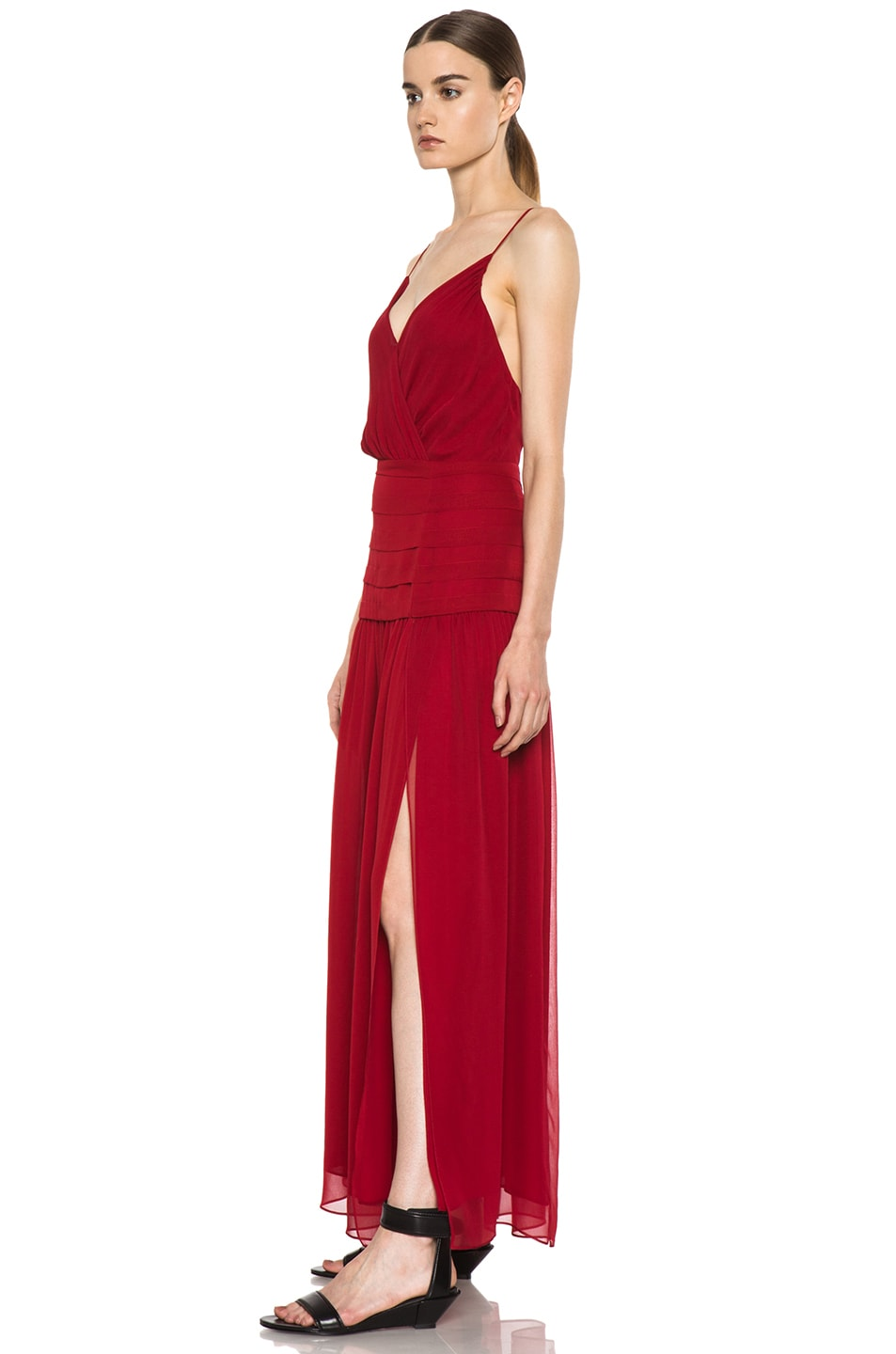 Image 2 of Haute Hippie The Sexy Rachel Silk Dress in Scarlet