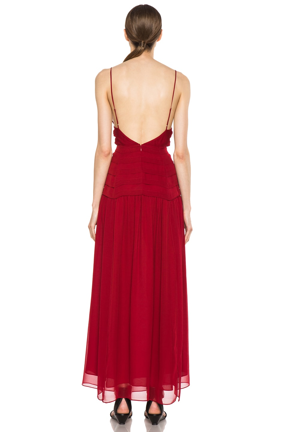 Image 4 of Haute Hippie The Sexy Rachel Silk Dress in Scarlet