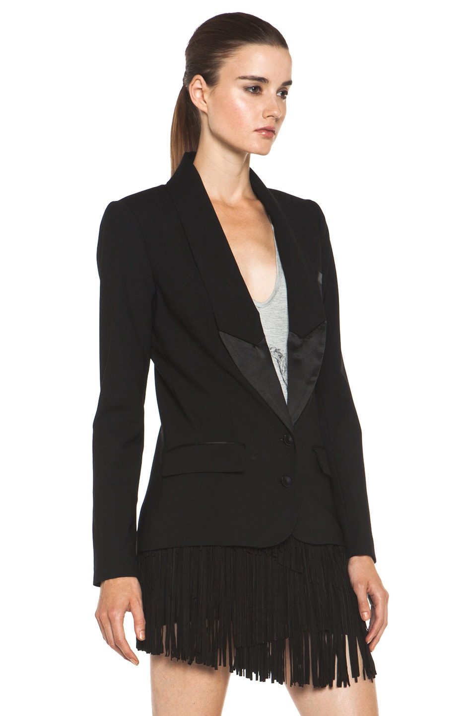 Image 4 of Haute Hippie The Perfect Sexy Tuxedo Blazer in Black