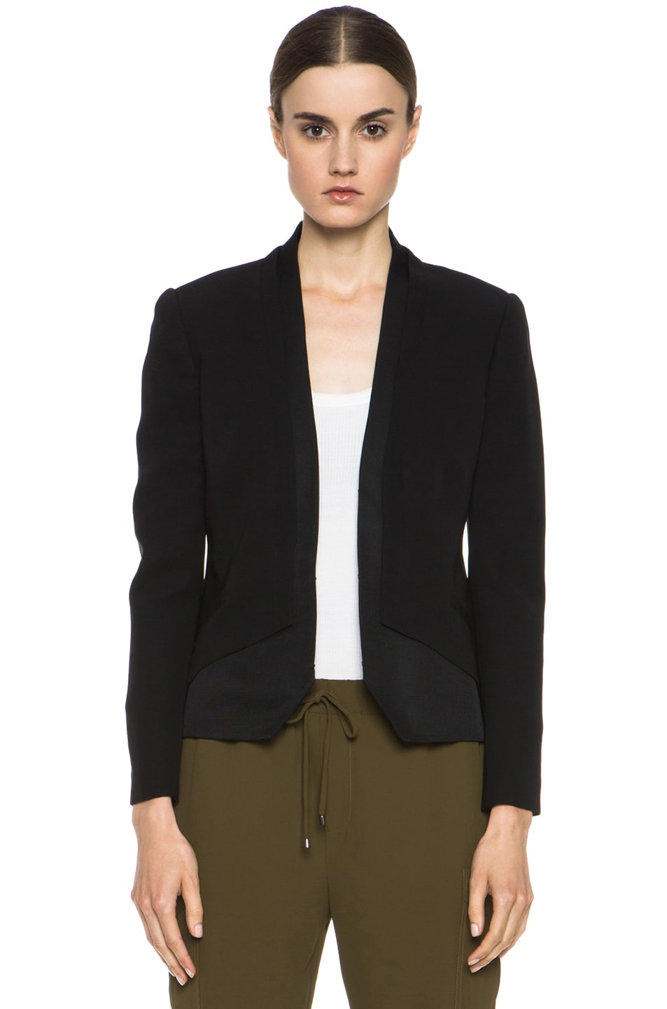 Image 1 of Haute Hippie Silk Blazer in Black
