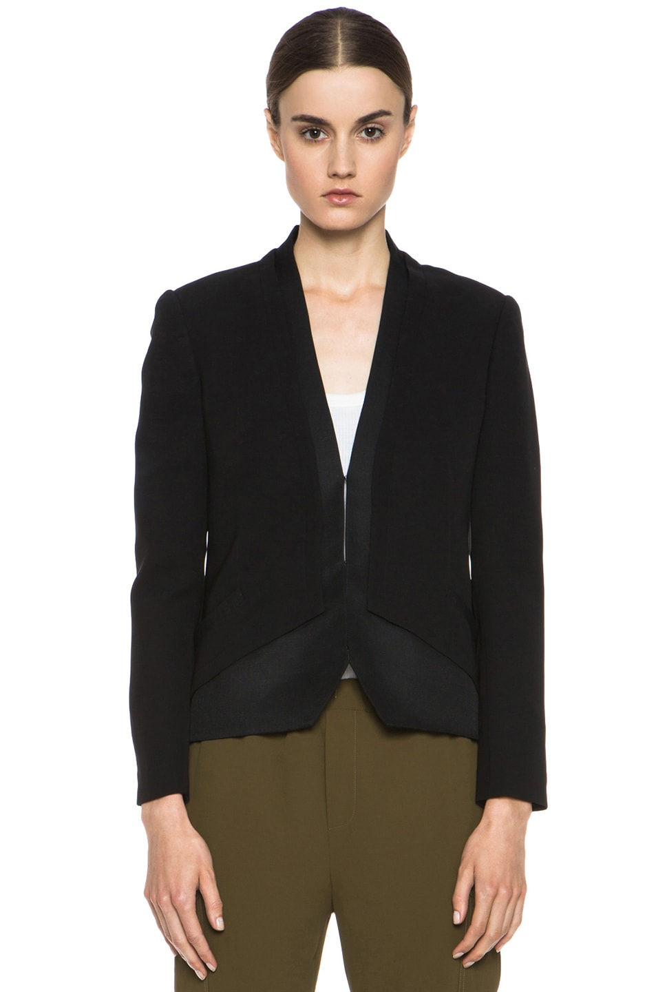 Image 2 of Haute Hippie Silk Blazer in Black