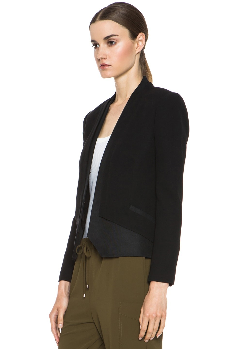 Image 3 of Haute Hippie Silk Blazer in Black