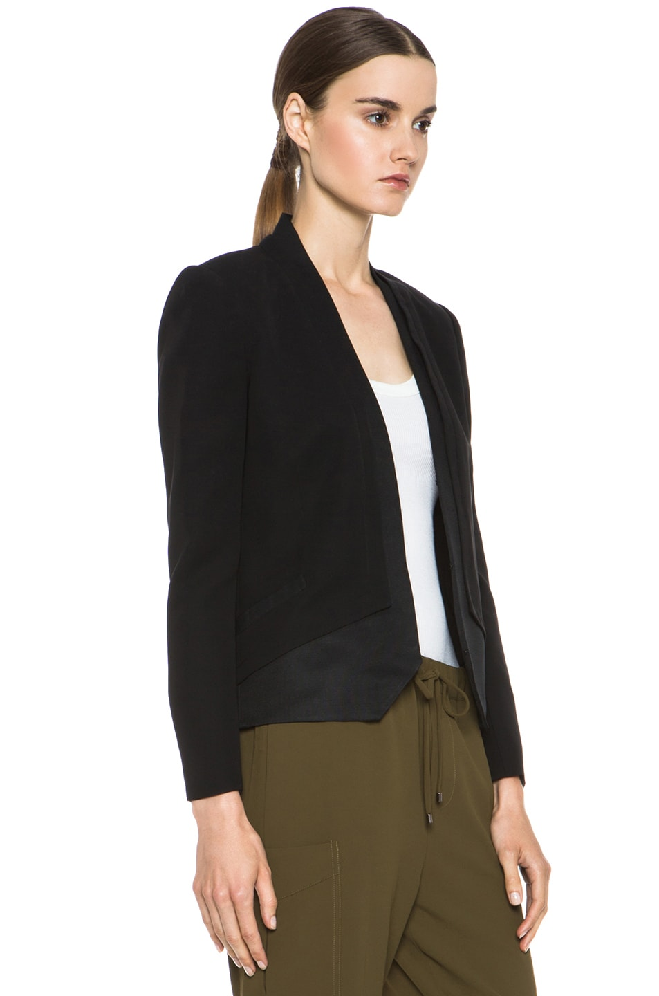 Image 4 of Haute Hippie Silk Blazer in Black