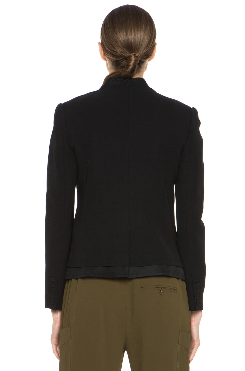 Image 5 of Haute Hippie Silk Blazer in Black