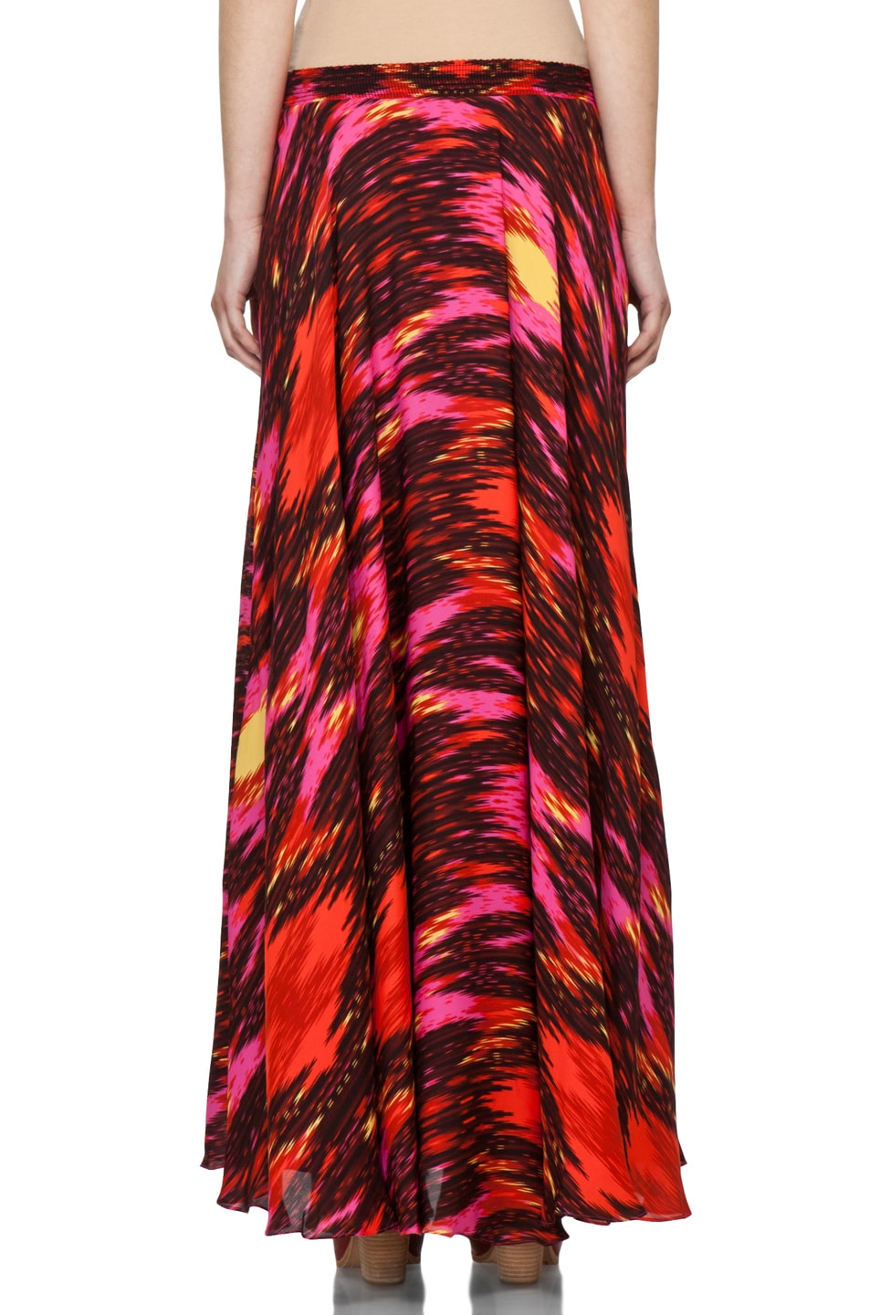 Image 4 of Haute Hippie Ikat Cinched Waist Skirt in Multi