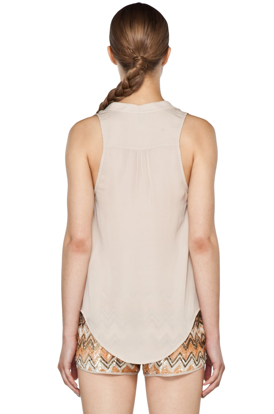 Image 5 of Haute Hippie Cowl Tank in Buff