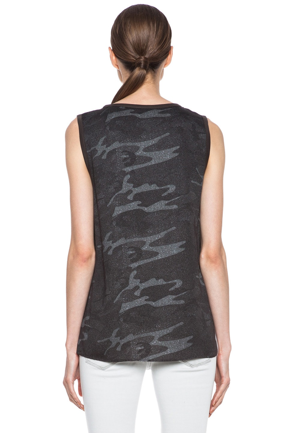 Image 4 of Haute Hippie Viscose Muscle Tee in Camo Multi