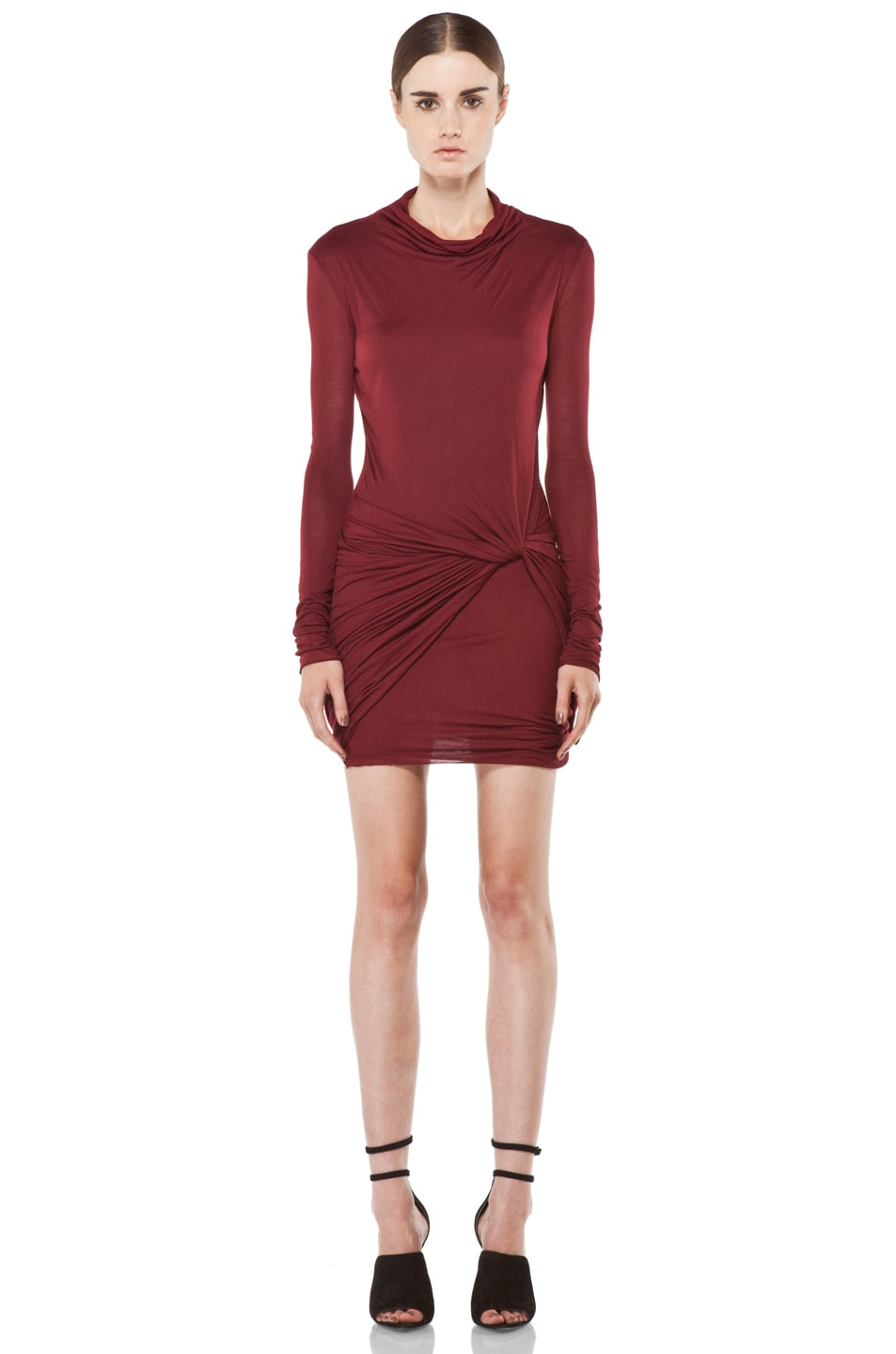 Image 1 of Helmut Lang Slack Jersey Long Sleeve Dress in Fever