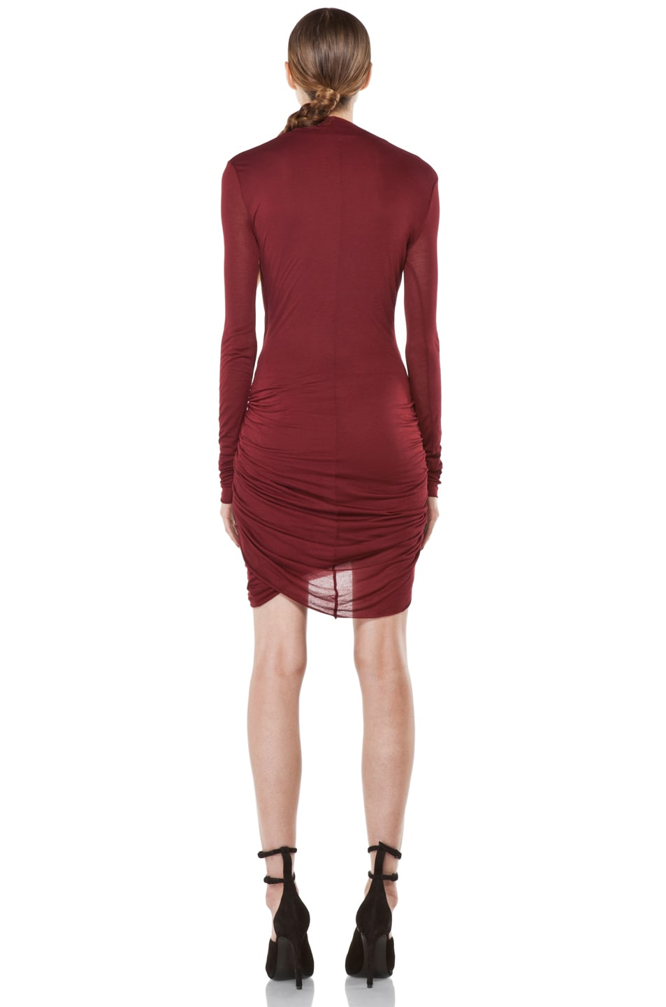 Image 4 of Helmut Lang Slack Jersey Long Sleeve Dress in Fever