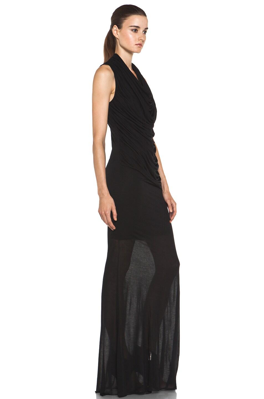 Image 3 of Helmut Lang Slack Jersey Maxi Cowl Dress in Black