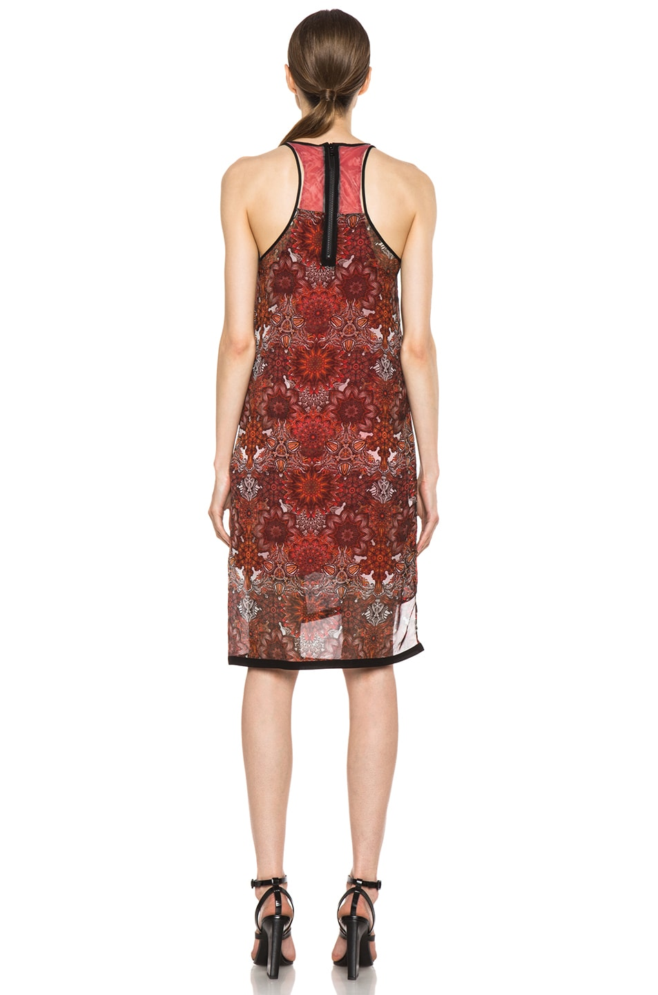 Image 4 of Helmut Lang Printed Layer Dress in Red Multi