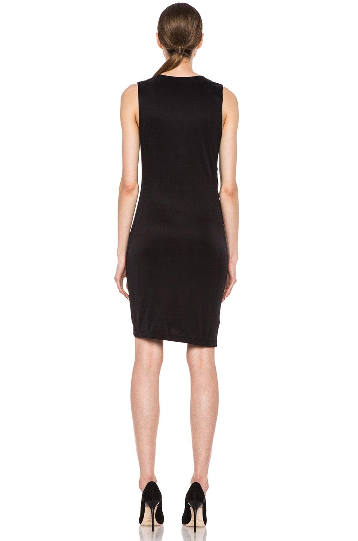 Image 4 of HELMUT Helmut Lang Shale Jersey Side Tuck Dress in Black
