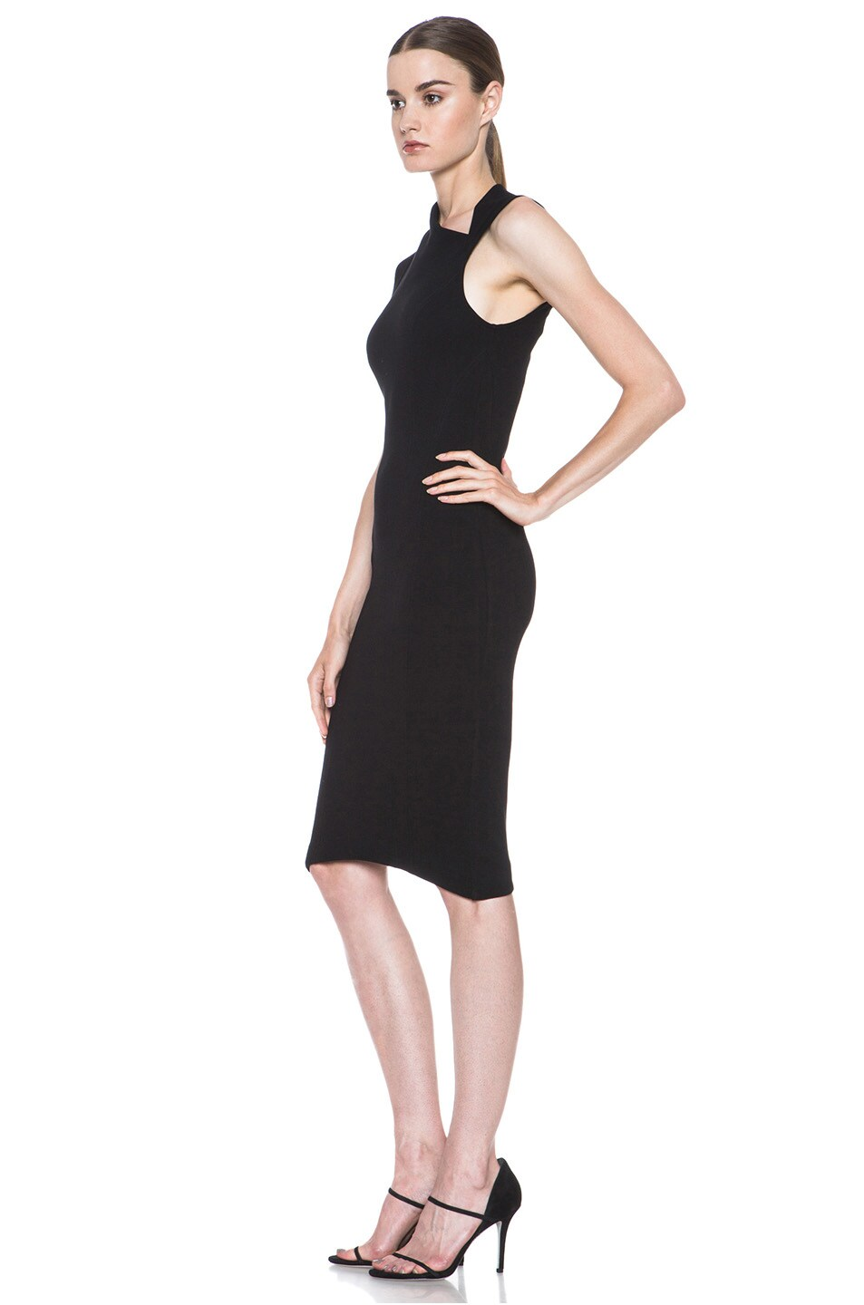 Image 2 of HELMUT Helmut Lang Gala Body Contusion Dress in Black