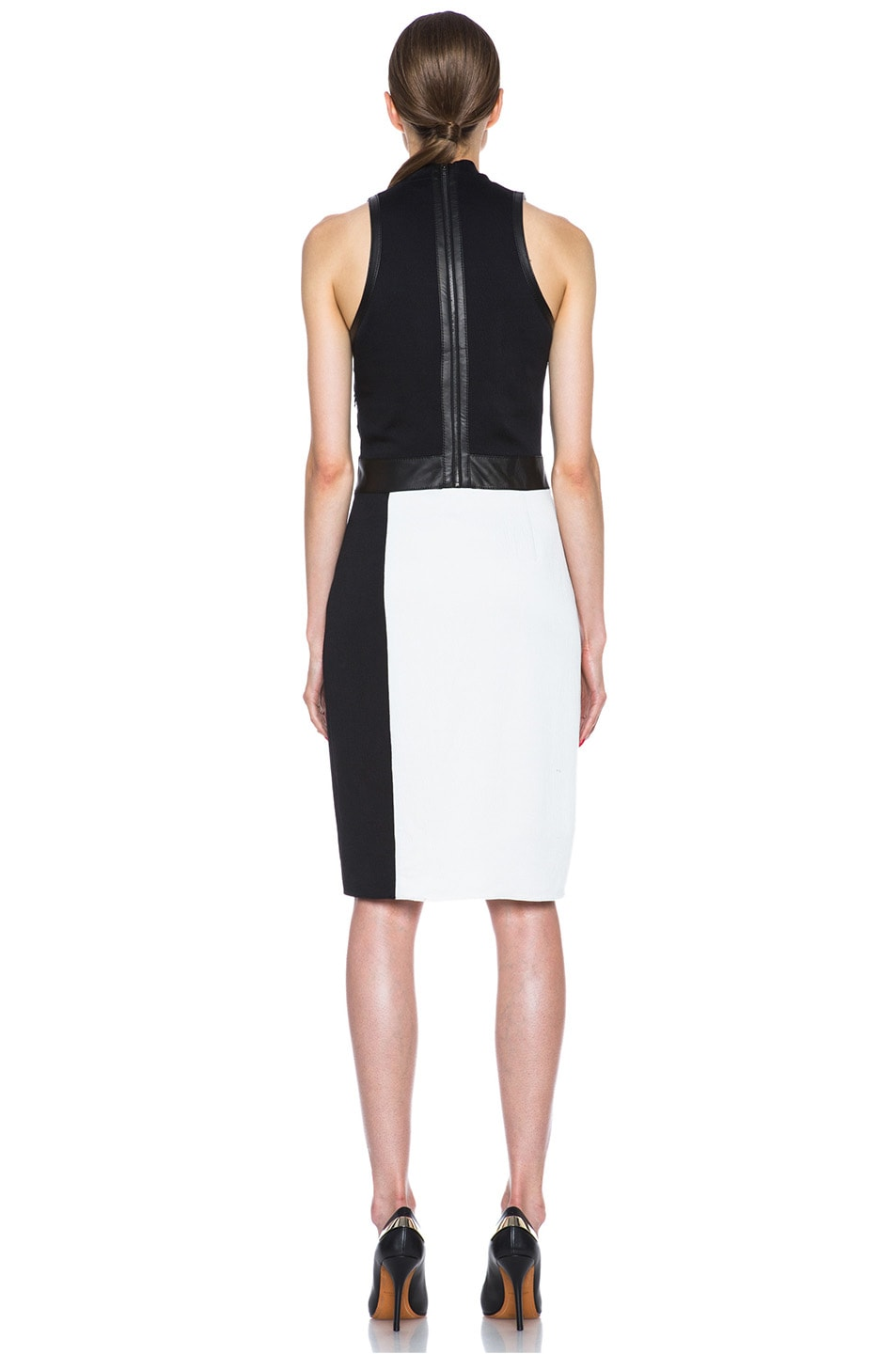 Image 4 of Helmut Lang Grained Viscose Twisted Drape Dress in Pearl