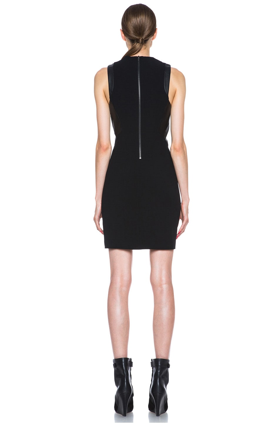 Image 4 of Helmut Lang Sphere Viscose Wool Dress in Black