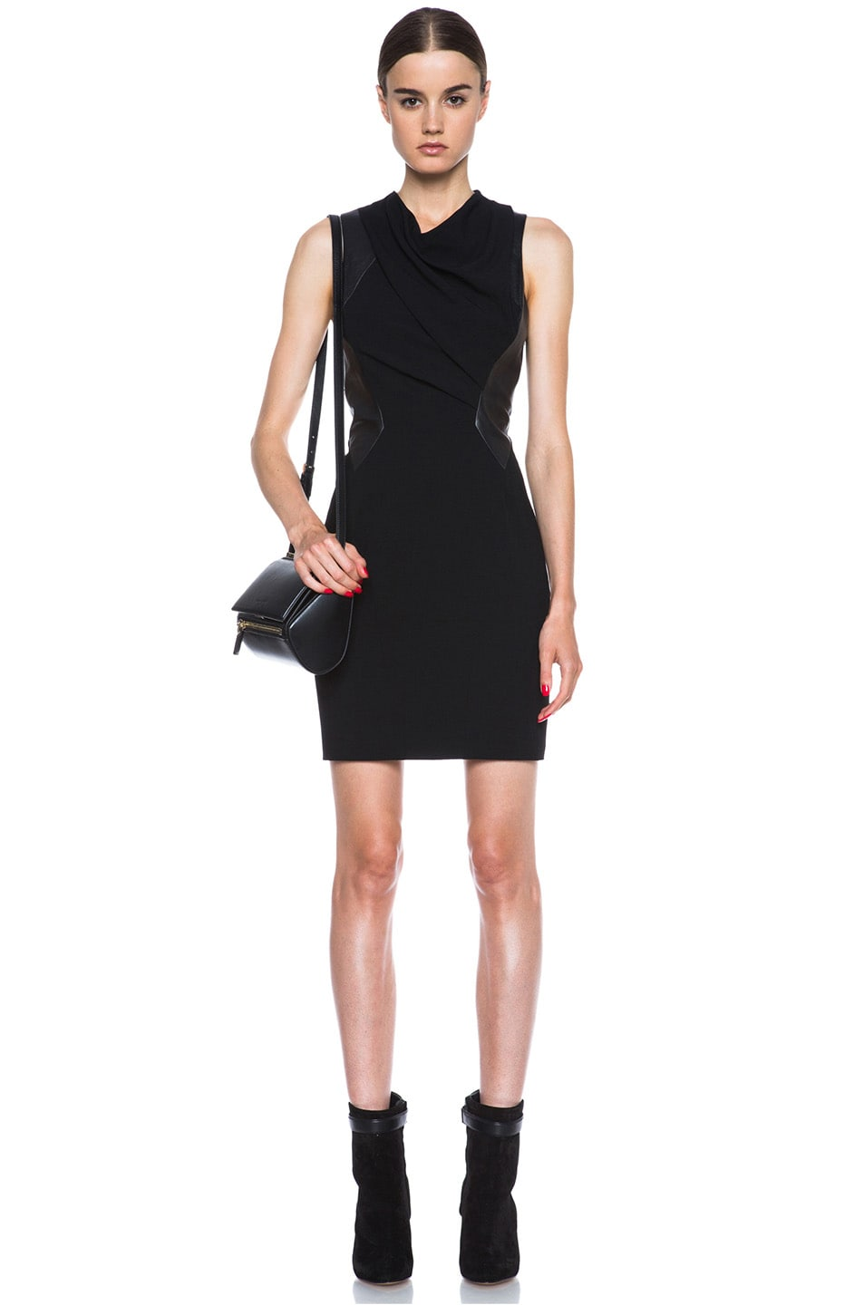 Image 5 of Helmut Lang Sphere Viscose Wool Dress in Black