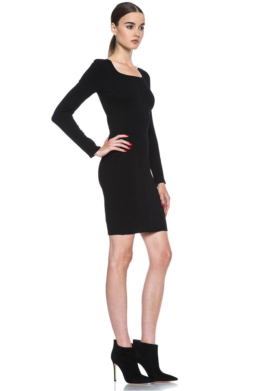 Image 3 of HELMUT Gala Knit Dress in Black