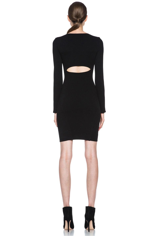 Image 4 of HELMUT Gala Knit Dress in Black