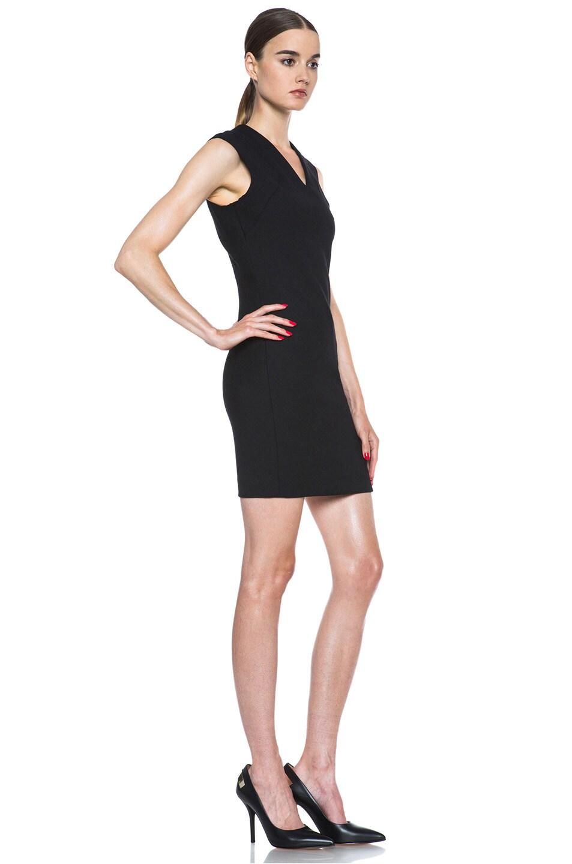 Image 3 of HELMUT Moto Stretch Angle Zipper Poly-Blend Dress in Black