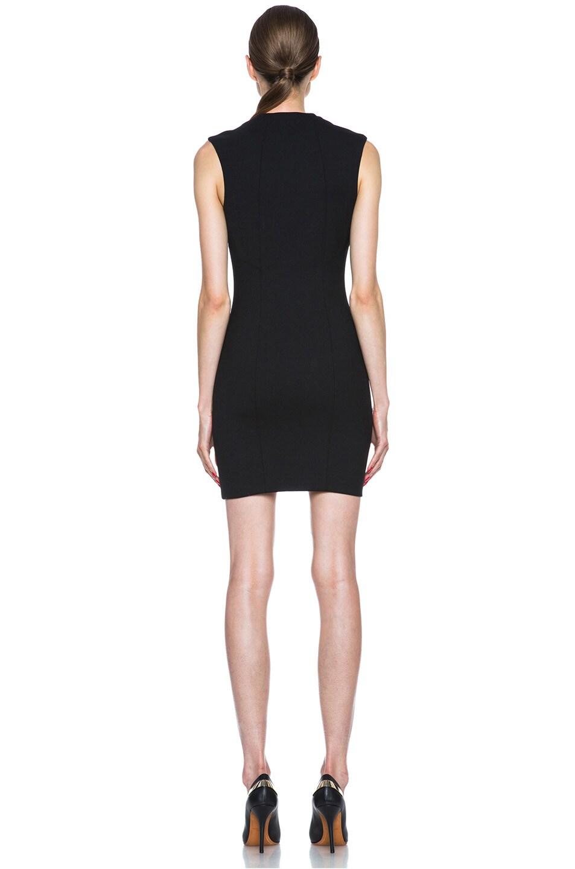 Image 4 of HELMUT Moto Stretch Angle Zipper Poly-Blend Dress in Black