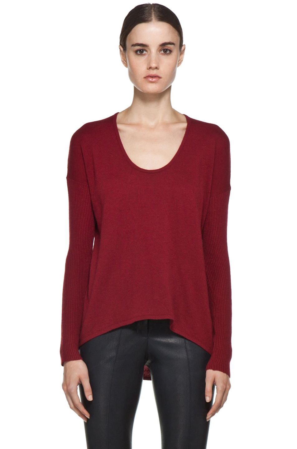 Image 1 of HELMUT Soft Wool Blend Sweater in Red