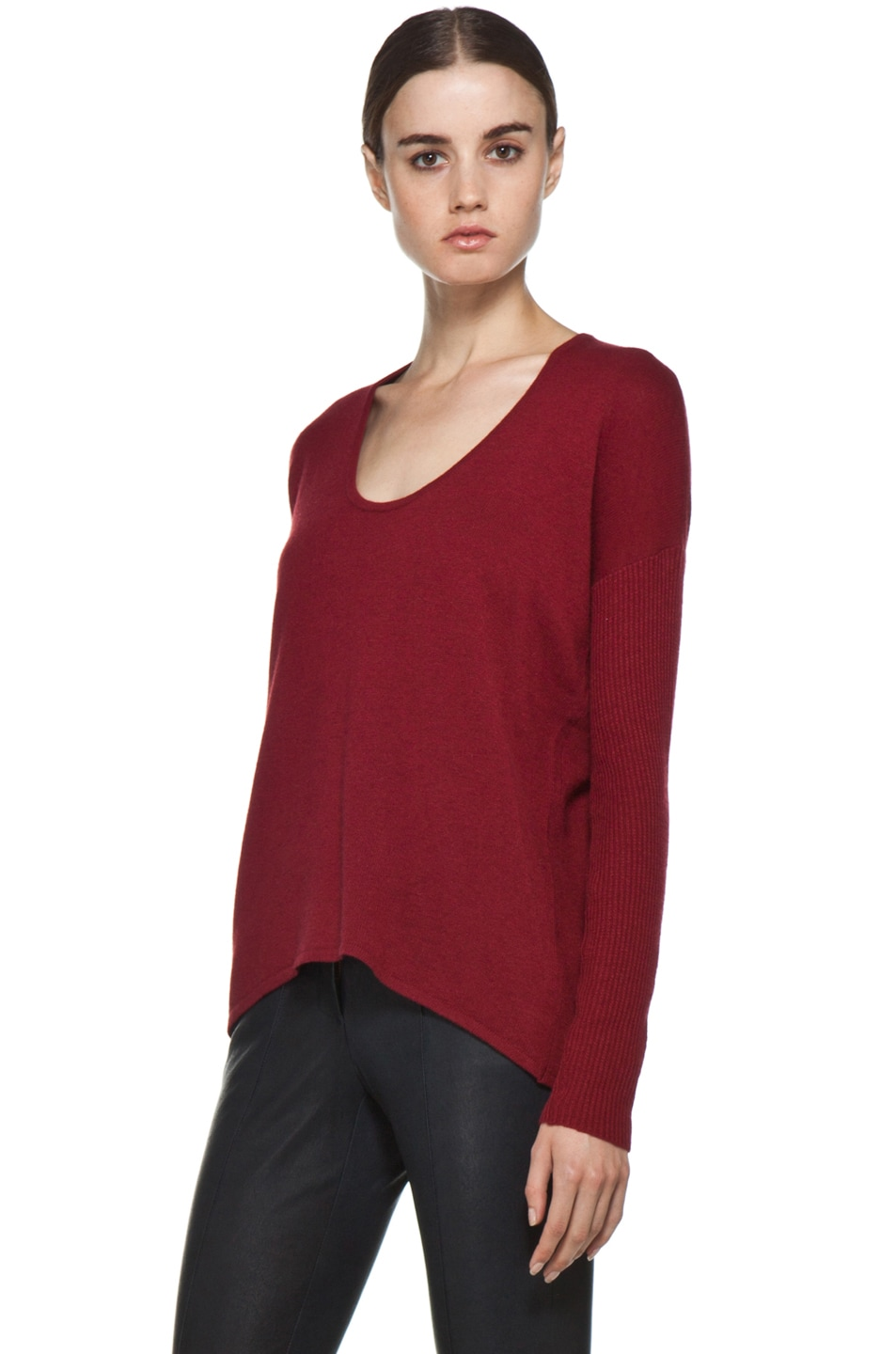 Image 2 of HELMUT Soft Wool Blend Sweater in Red