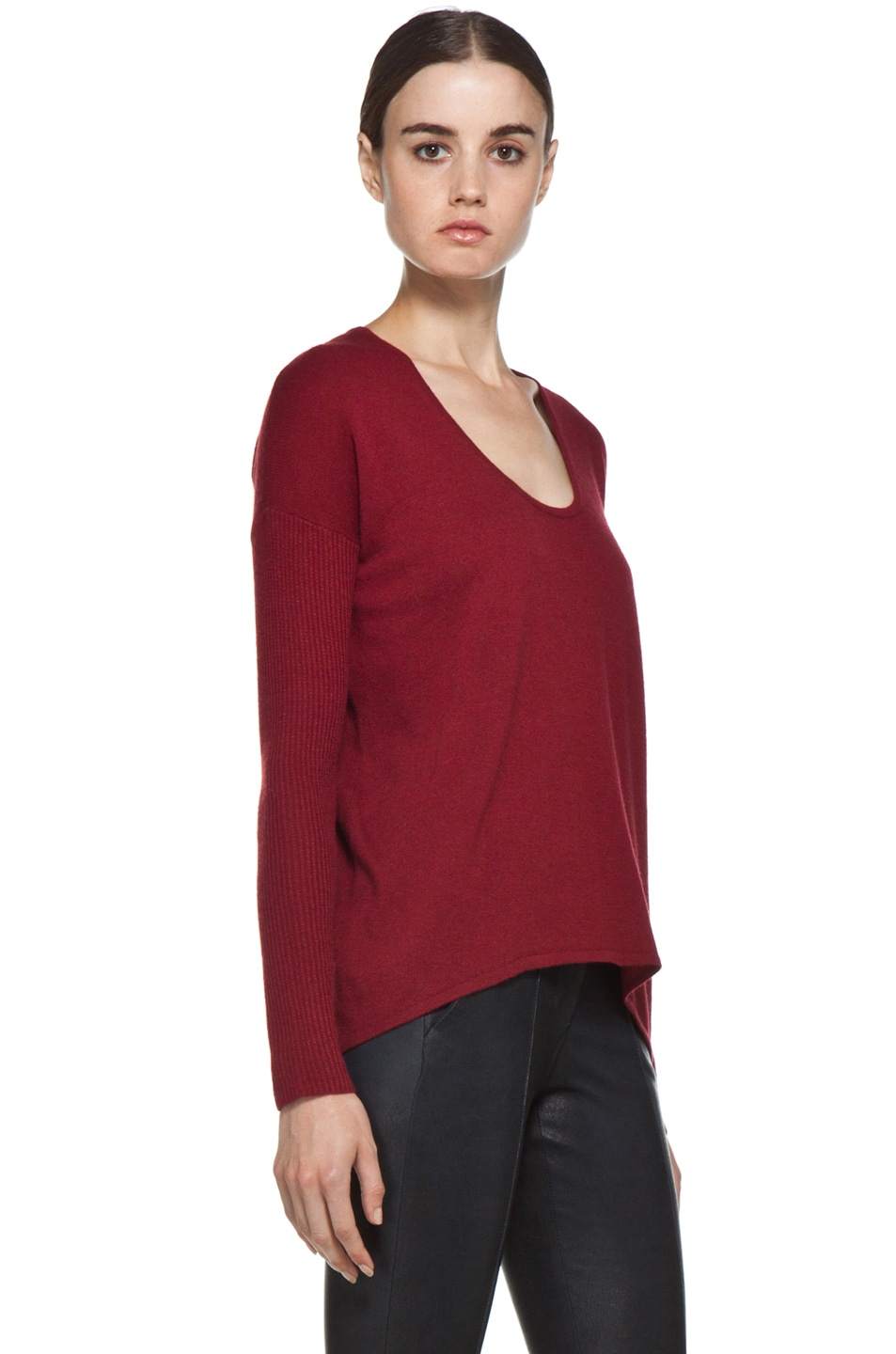 Image 3 of HELMUT Soft Wool Blend Sweater in Red