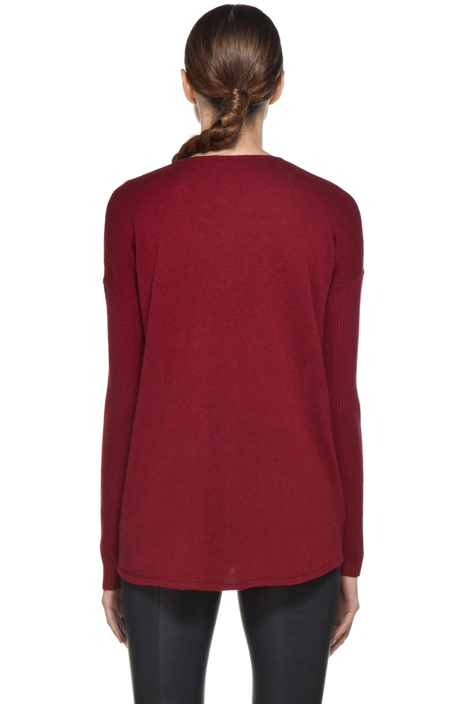 Image 4 of HELMUT Soft Wool Blend Sweater in Red