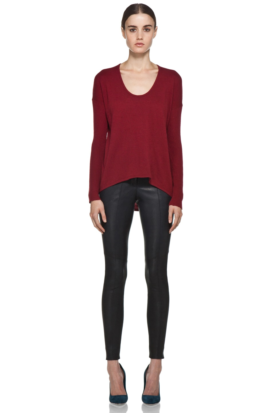 Image 5 of HELMUT Soft Wool Blend Sweater in Red