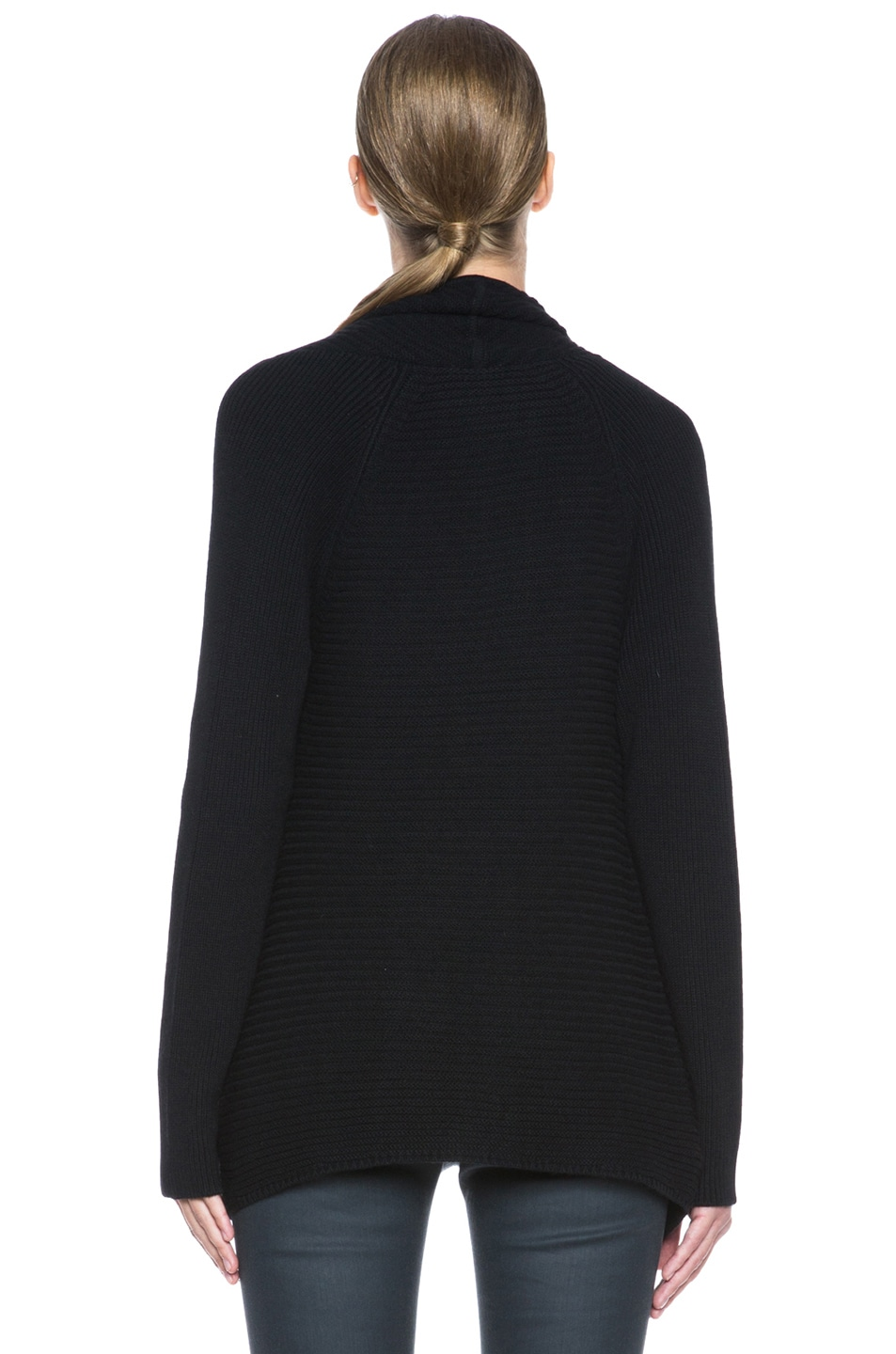 Image 4 of HELMUT Plush Wool-Blend Cardigan in Black