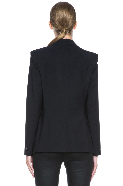 Image 5 of Helmut Lang Stretchy Wool Front Overlap Viscose Blazer in Black