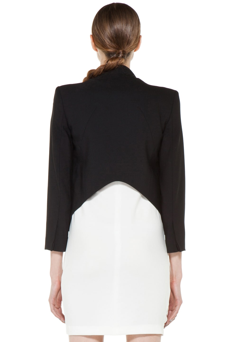 Image 5 of Helmut Lang Smoking Wool Tux Blazer in Black