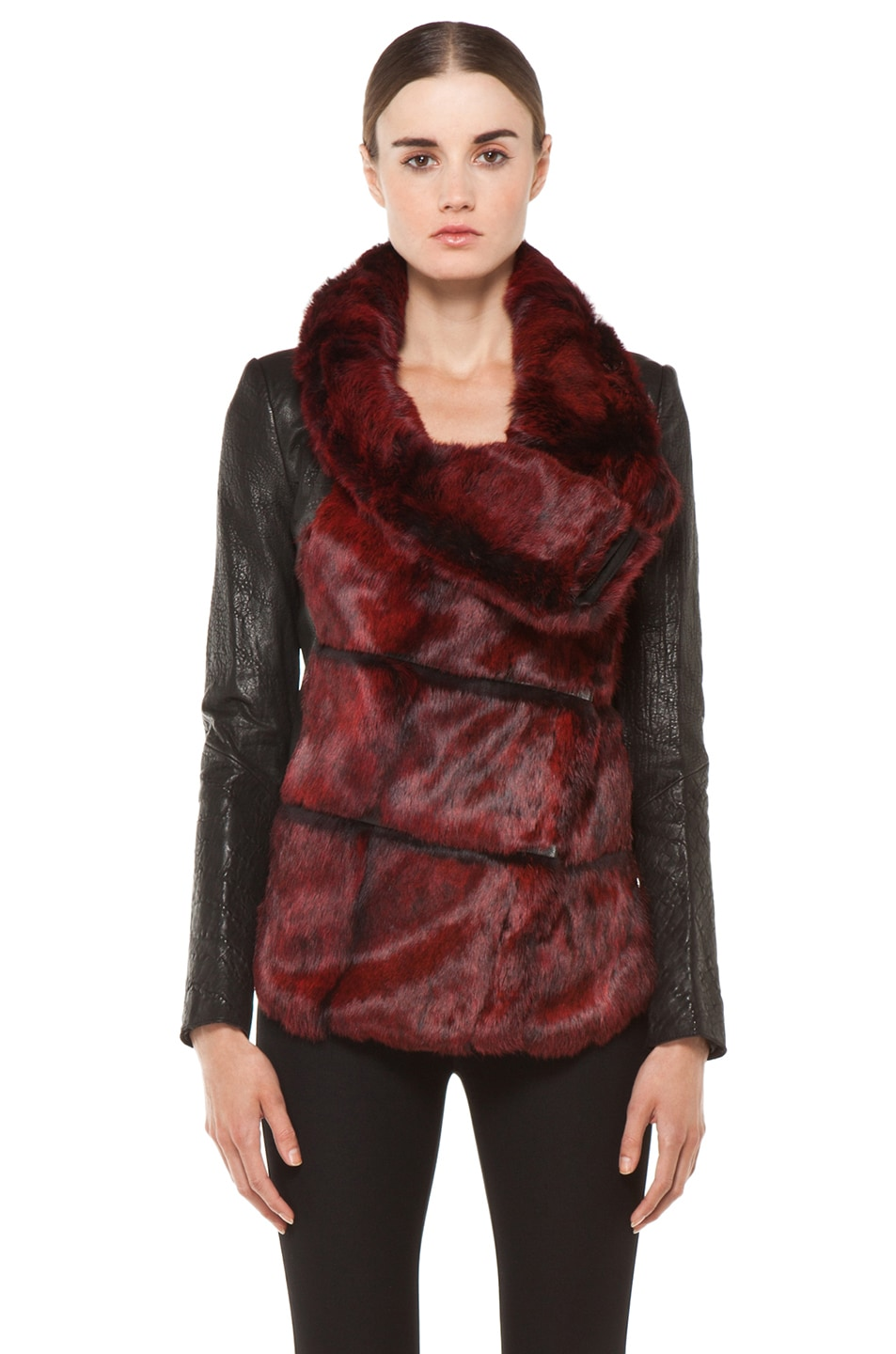 Image 2 of Helmut Lang Spanish Flux Fur Jacket in Black