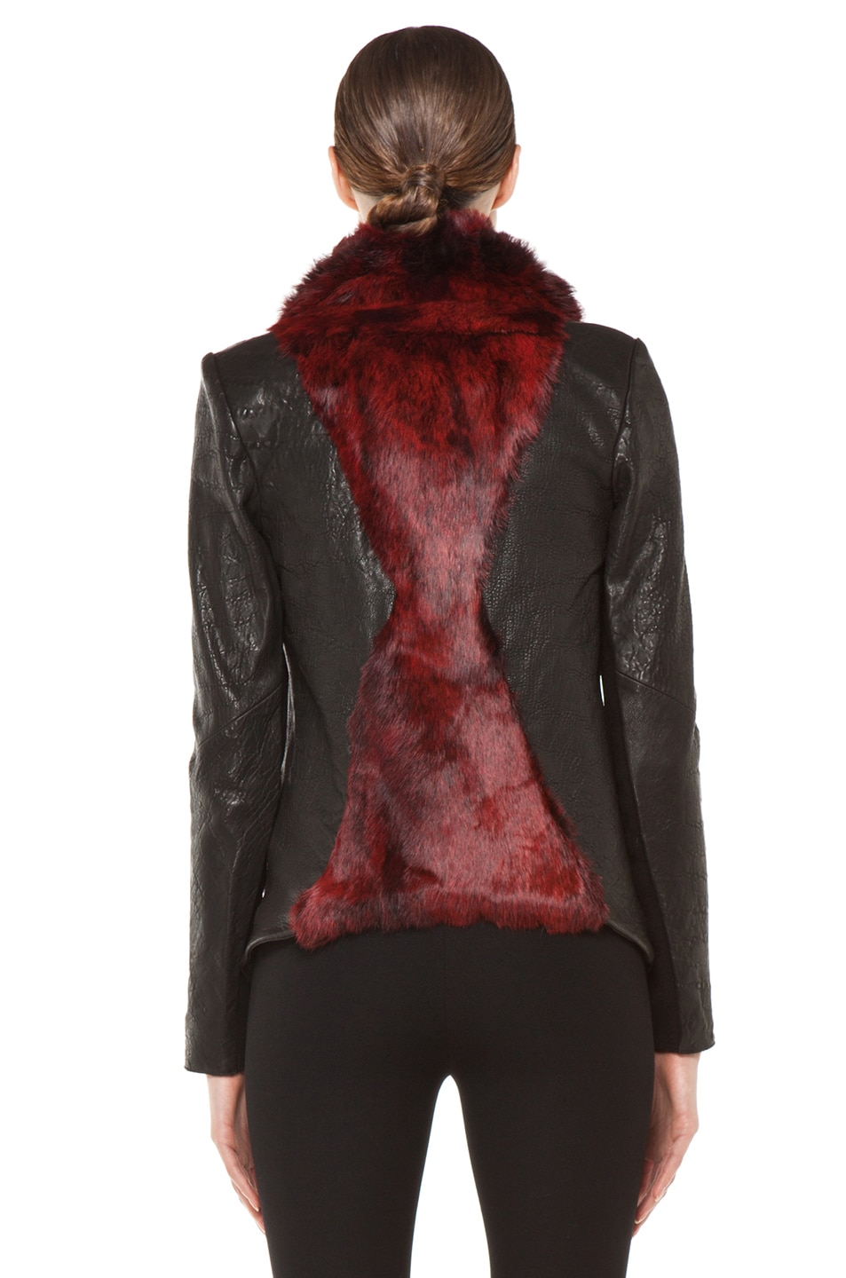 Image 5 of Helmut Lang Spanish Flux Fur Jacket in Black