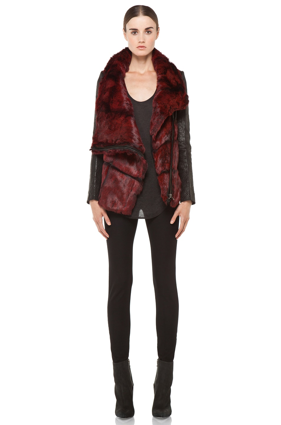 Image 6 of Helmut Lang Spanish Flux Fur Jacket in Black