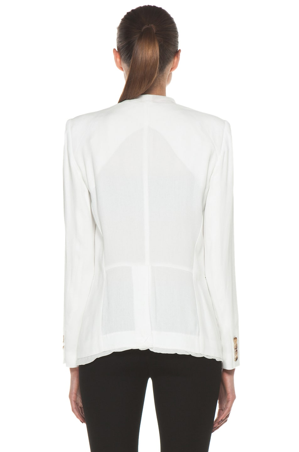 Image 5 of Helmut Lang Relic Twist Viscose Blazer in Soft White