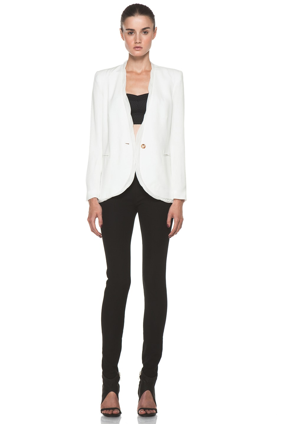 Image 6 of Helmut Lang Relic Twist Viscose Blazer in Soft White