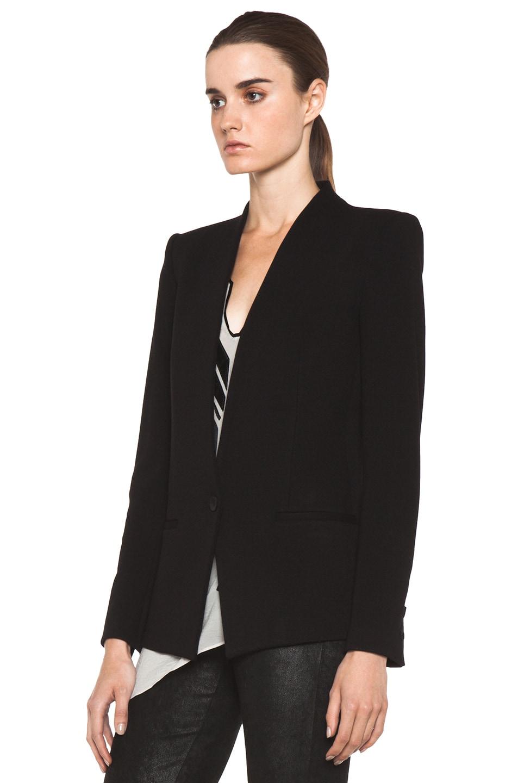 Image 4 of HELMUT Gala Knit Blazer in Black