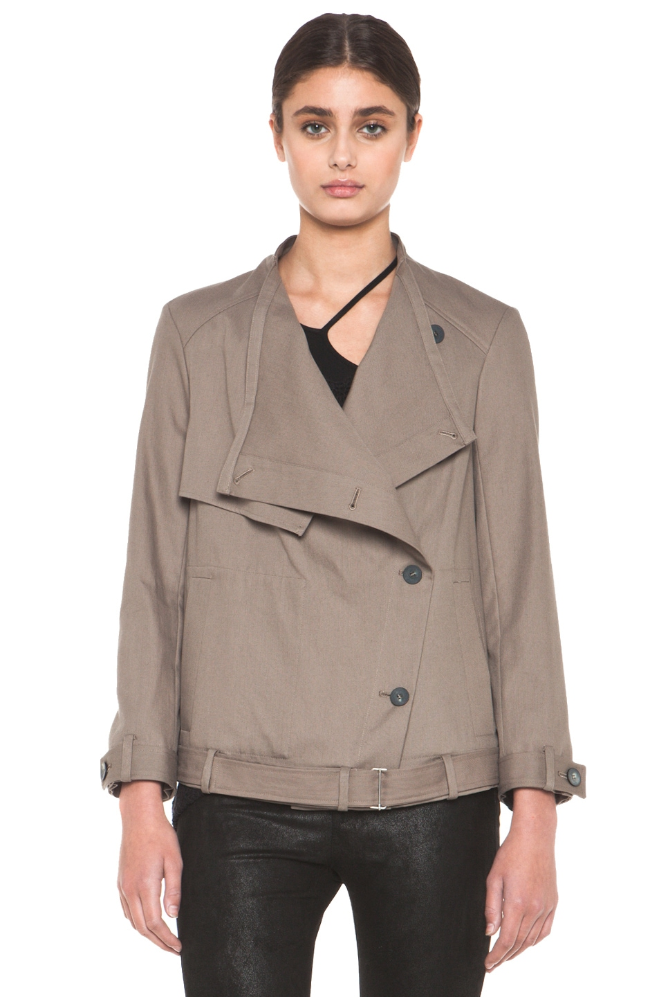 Image 2 of HELMUT Surge Cotton Trench Coat in Lint