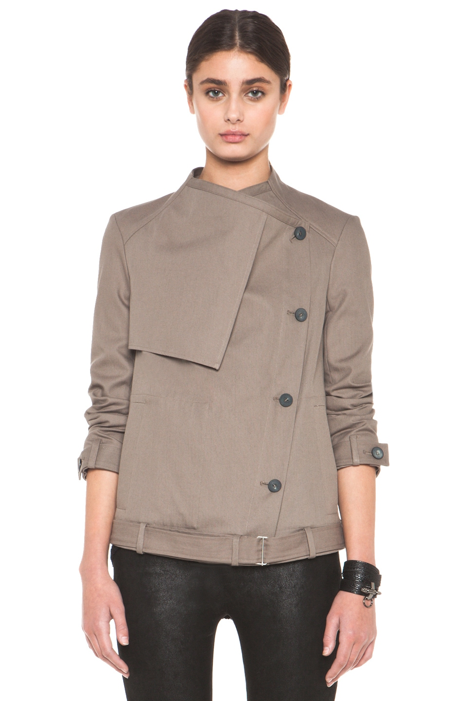 Image 3 of HELMUT Surge Cotton Trench Coat in Lint