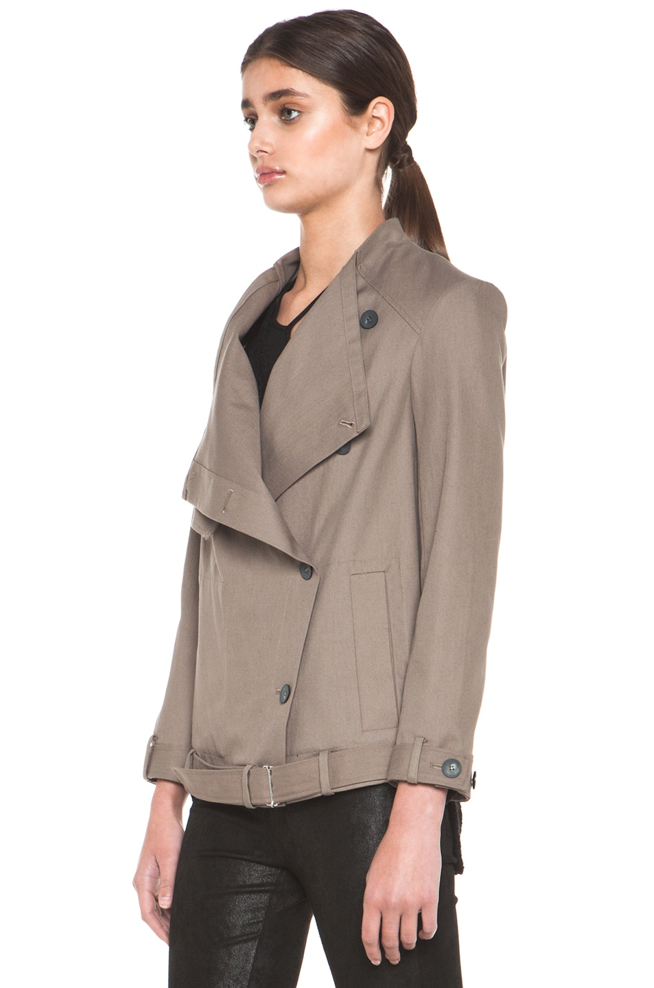 Image 4 of HELMUT Surge Cotton Trench Coat in Lint
