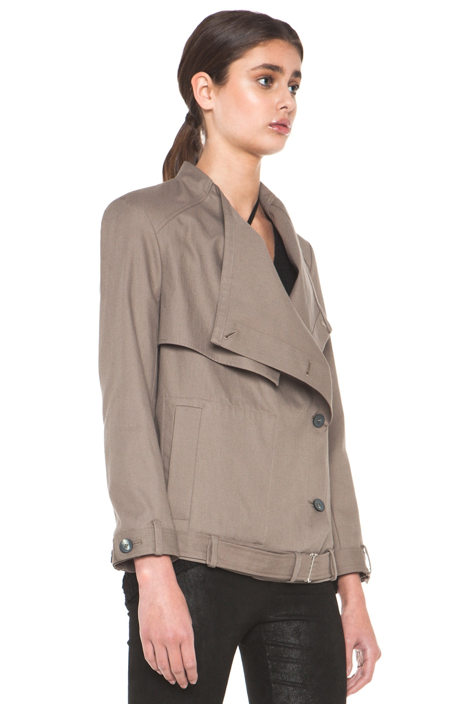 Image 5 of HELMUT Surge Cotton Trench Coat in Lint