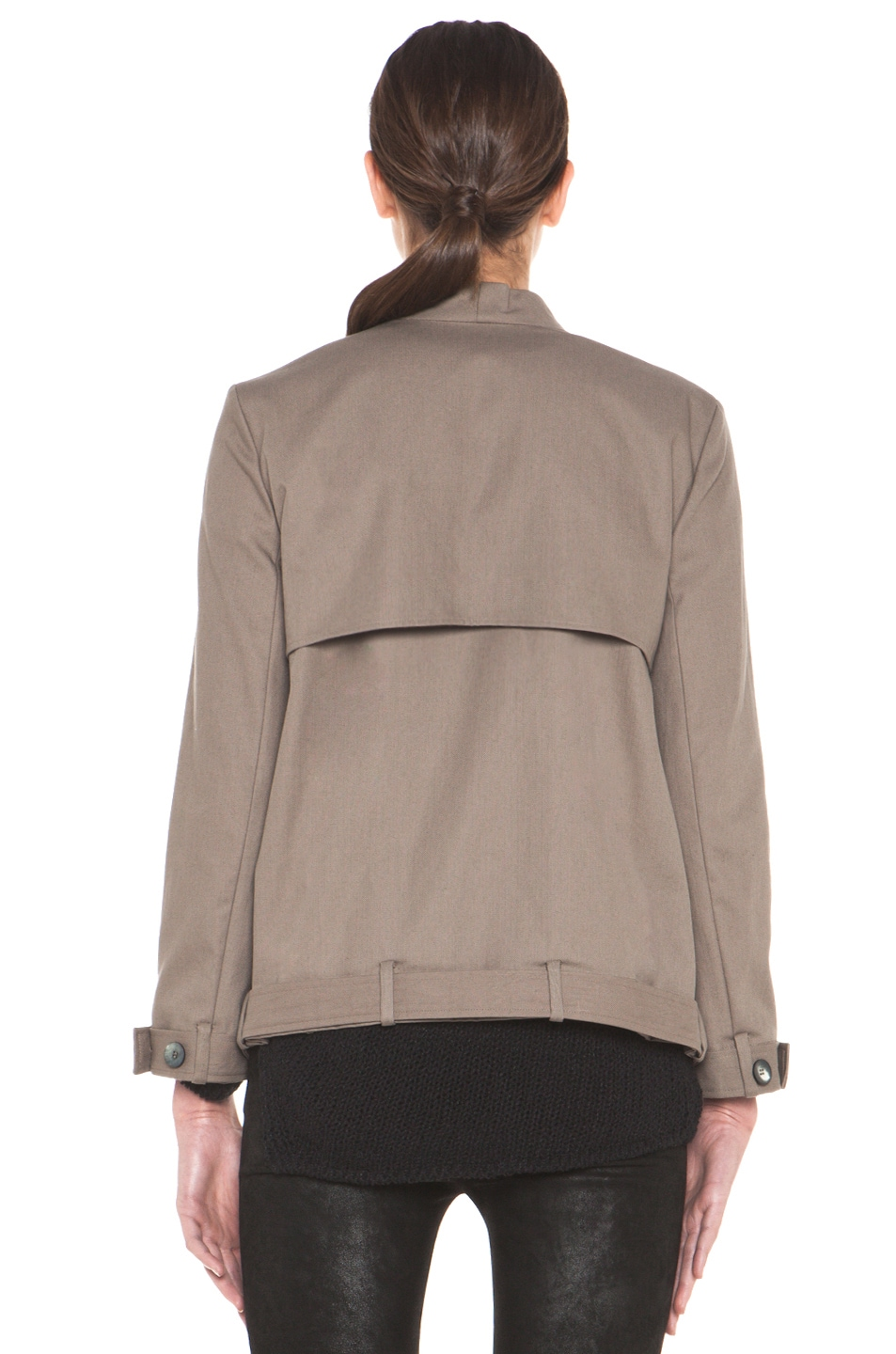 Image 6 of HELMUT Surge Cotton Trench Coat in Lint